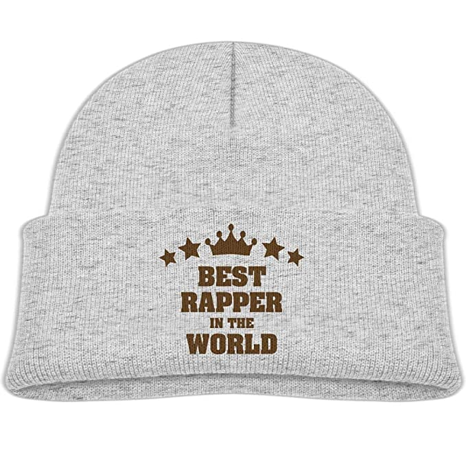 Best Rapper in The World Stars Crown Wool Beanie Hat Fashion Boys 0-3 Old f3671ab1999