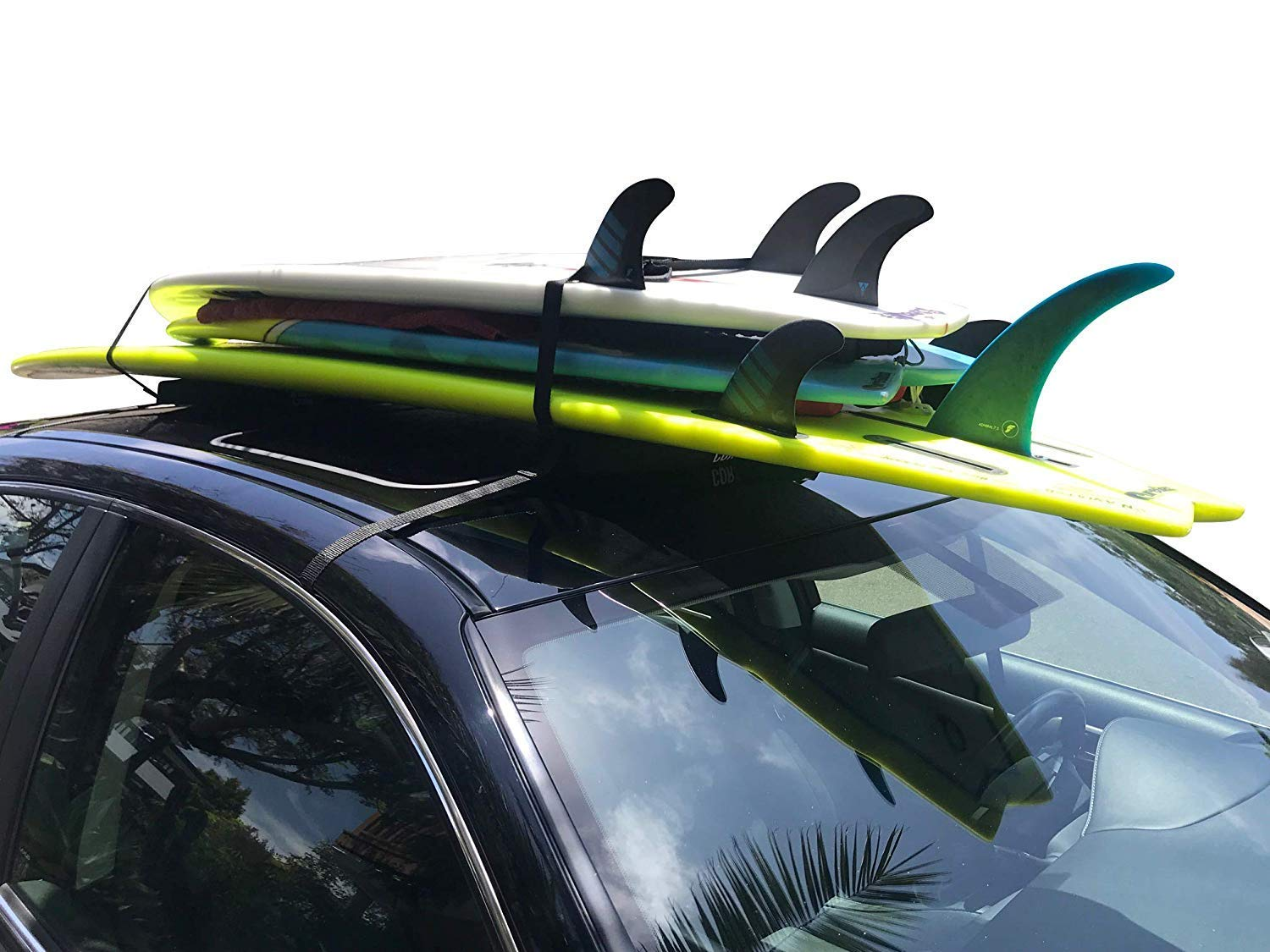Universal Car Soft Roof Rack Pad & Luggage Carrier Anti-Vibration System - with Storage Bag (28 Inches) by COR Surf