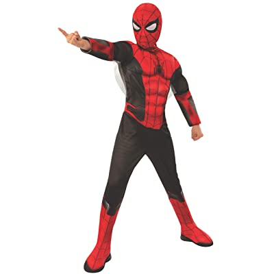 Rubie's Costume Spider Man Far From Home Red Black Deluxe Child Costume: Toys & Games