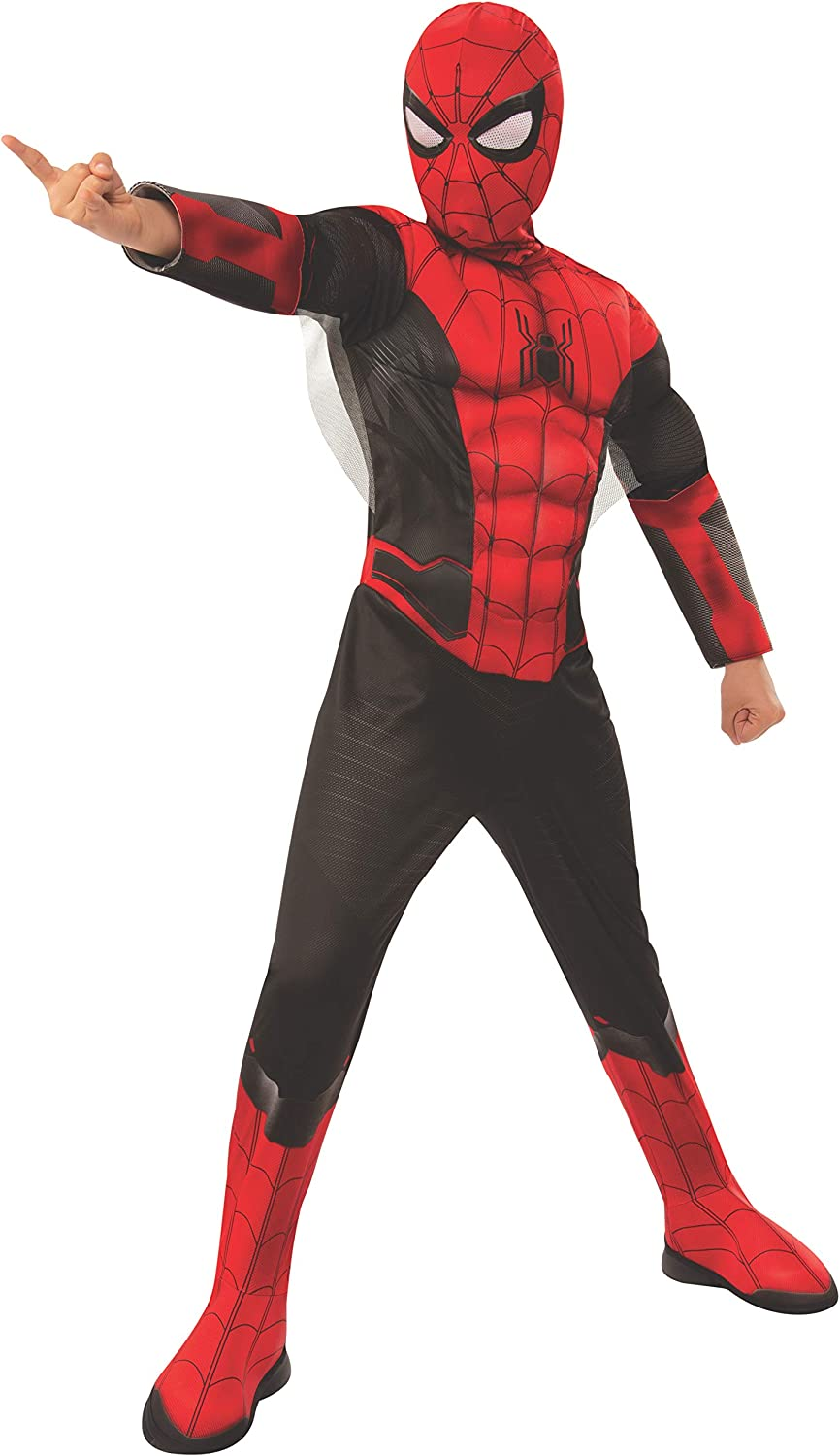 Boys Spider-Man Far From Home Black And Red Spidey Suit Deluxe Costume