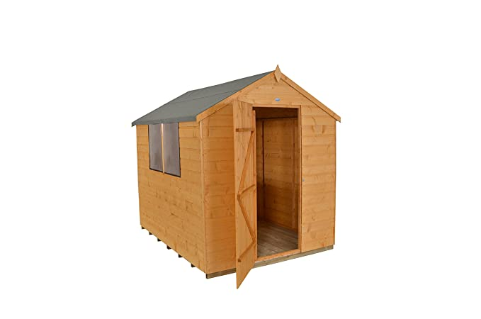 Forest Garden 8X6 Shiplap Apex Garden Shed - Dip Treated