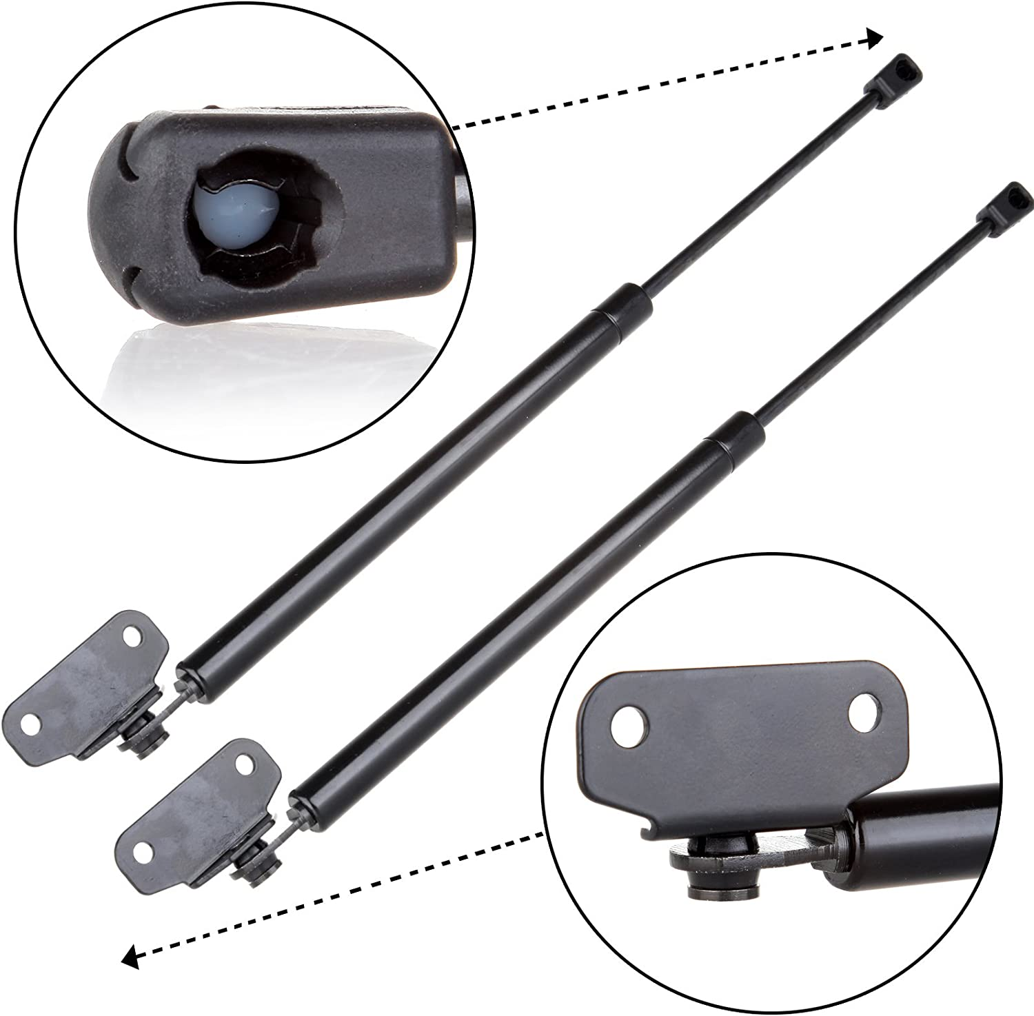 Two Rear Trunk Lid Gas Charged Lift Supports for 2005-2012 Acura RL WGS-656-657 Wisconsin Auto Supply Left and Right Side