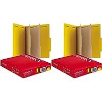 Universal Pressboard Classification Folders, Letter, Six-Section, Yellow, 10/Box (10304) 2Pack