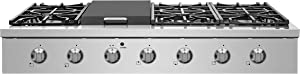"""NXR SCT4811 48"""" Pro-Style Natural Gas Cooktop, Stainless Steel"""