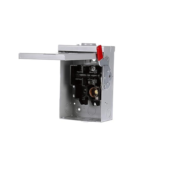 SIEMENS LF111NR 30 Amp, 1 Pole, 120-Volt, PLUG Fused, General Duty, W/N Outdoor Rated