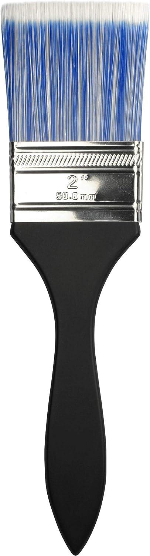 F /& M Brush Company Dynasty Blue Ice Short Handle Brush-Series 32F Flat Size 2 Black