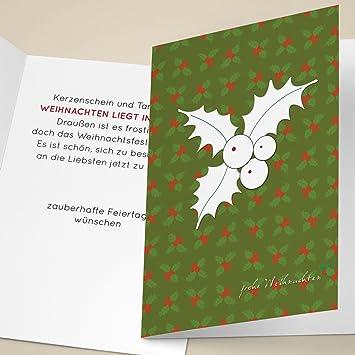 Firmen Weihnachtskarten Drucken.100er Set Elegante Unternehmen Weihnachtskarten Grün Mit Mistel