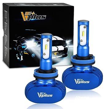 partsam H8 H9 H11 LED Faros delanteros bombillas, todo en uno head-lamps Kit de conversión, coche sustitución de la lámpara impermeable, Super brillante ...