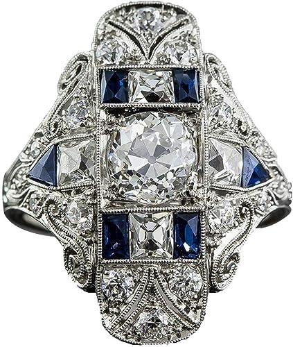 925 Silver Ring Rainbow Topaz /& Tanzanite Princess Cut Classy Jewellery Size 6-9
