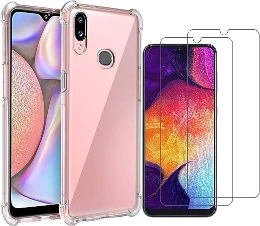 Miside Coque pour Samsung Galaxy A10S, avec protection d'écran Samsung Galaxy A10S. 3 en 1 résistant aux rayures, fine, tendance, souple, en TPU, ...