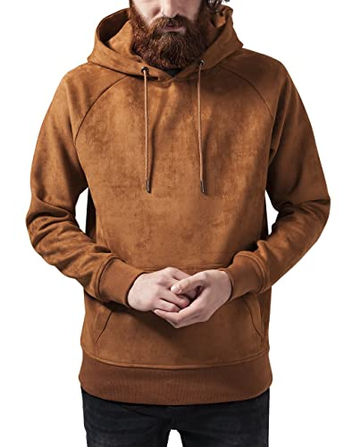 Urban Classic Men's Imitation Suede Sports Hoodie: Amazon.co.uk: Clothing