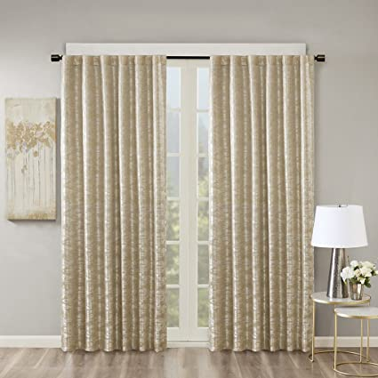 ecd045be08a31d Blackout Curtains For Bedroom , Luxury Valance Gold Window Curtains For  Living Room Family Room ,