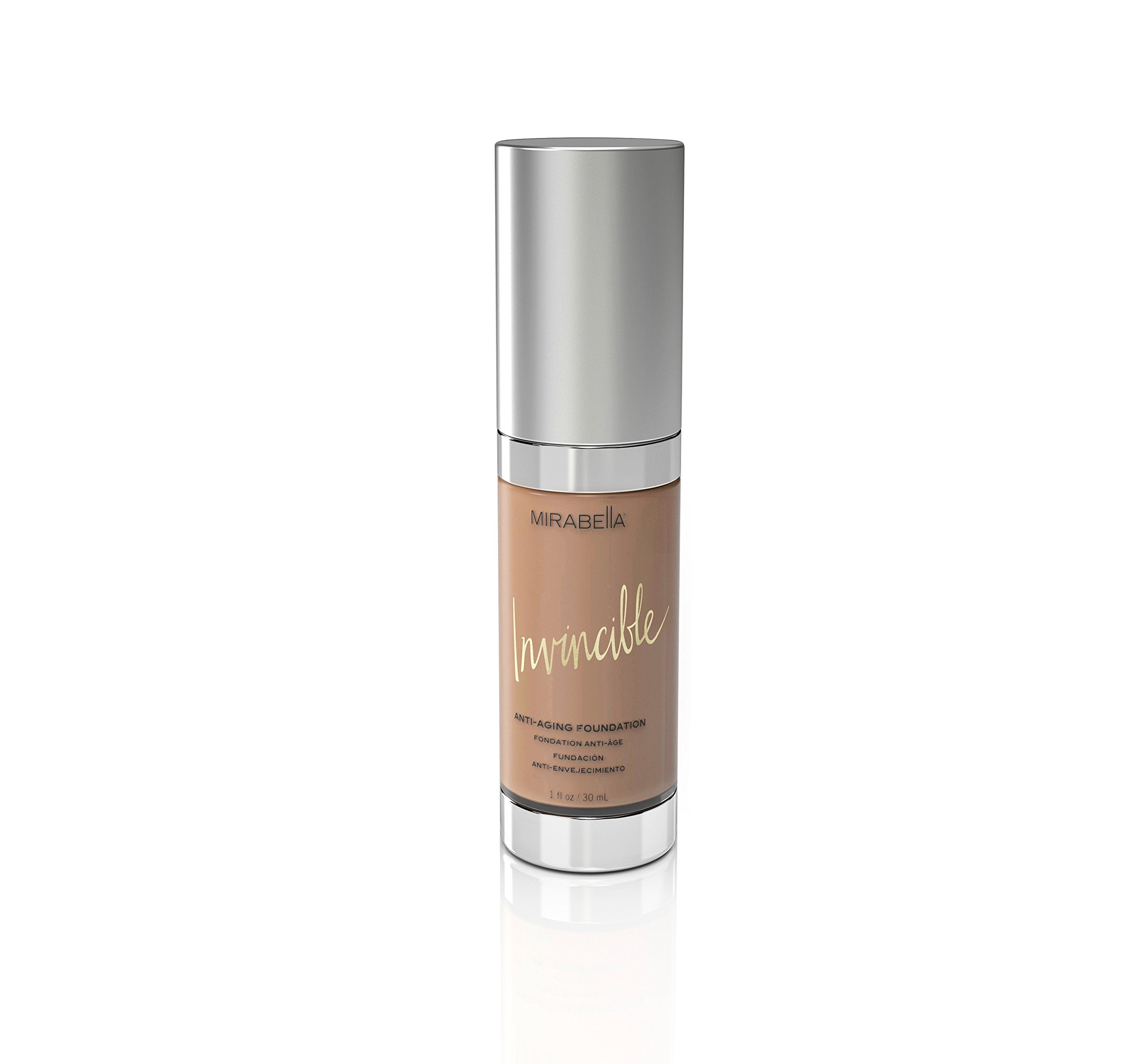 Mirabella Invincible Anti-Aging Full Coverage HD Liquid Foundation - Medium (IV), 1 fl.oz.