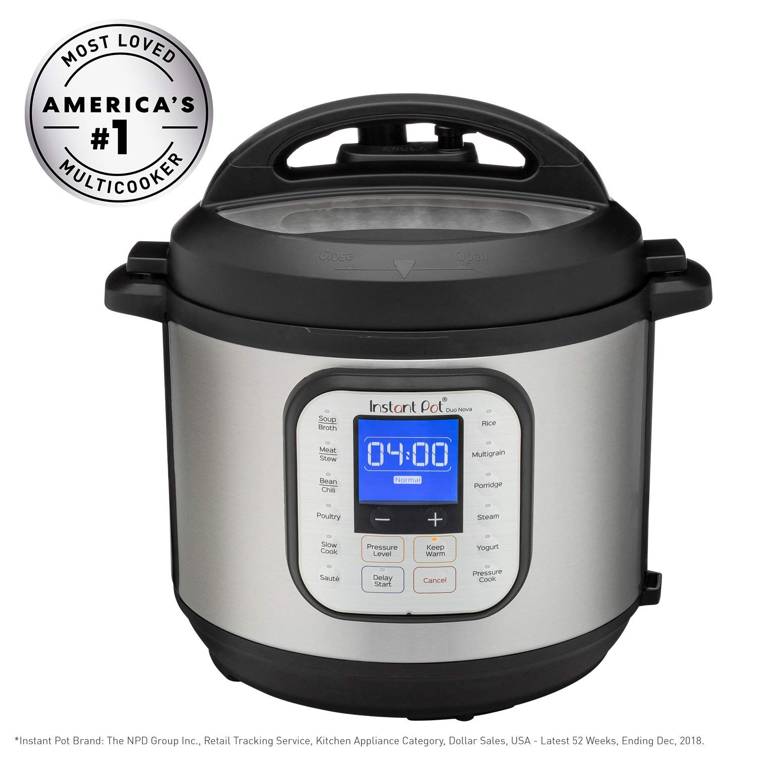 Instant Pot DUO NOVA 6 Qt 7-in-1 Multi-Use Programmable Pressure Cooker, Slow Cooker, Rice Cooker, Steamer, Sauté, Yogurt Maker and Warmer (Renewed)