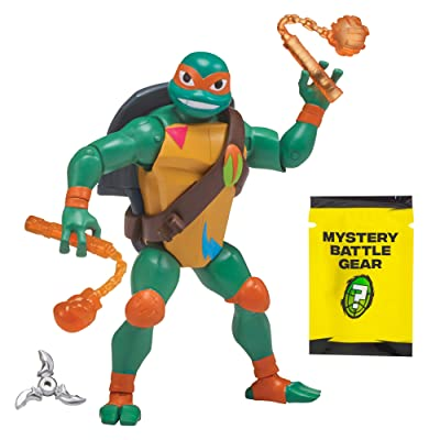 Rise of the Teenage Mutant Ninja Turtle Battle Shell Michelangelo Action Figure: Toys & Games