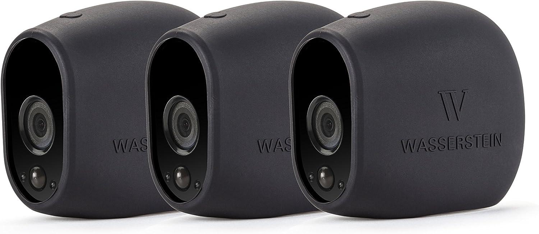 3 X Silikon Skins Kompatibel Mit Arlo Smart Home Security Kamerasystem 100 Wifi Von Wasserstein Schwarz Elektronik