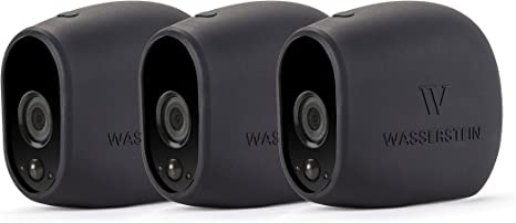 Opinión sobre 3 x Fundas de Silicona para Arlo Smart Security – cámaras 100% inalámbricas de Wasserstein (Arlo HD, 3 x Negro)
