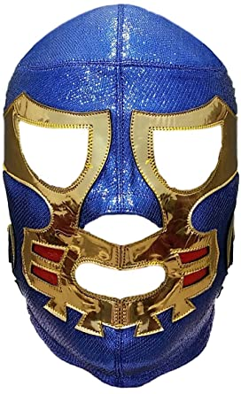 Canek Professional Lucha Libre Mask Adult Luchador Mask Blue/Gold