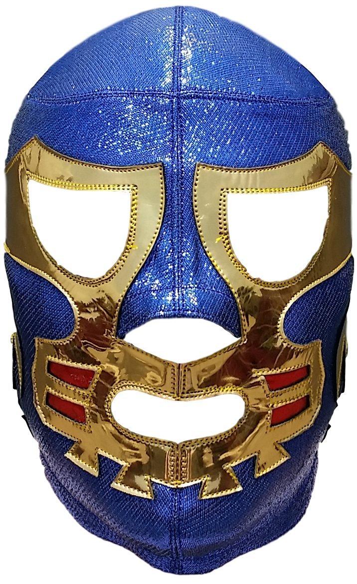 Canek Professional Lucha Libre Mask Adult Luchador Mask Blue/Gold by Deportes Martinez