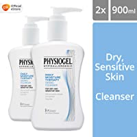 Physiogel Daily Moisture Therapy Dermo-Cleanser for Dry, Sensitive Skin, 900ml (Pack of 2)