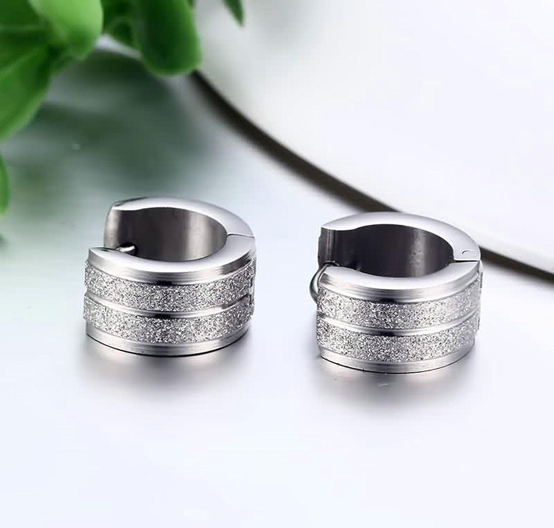 ANAZOZ Stainless Steel Earring for Women Stud Earrings Silver Half Circle 7x13MM