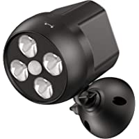 NICREW Buitenverlichting met sensor, draadloze veiligheidsbewegingsmelder, licht, 600 lumen, 4-leds, weerbestendig, op…
