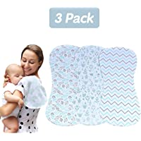 3 Pack Baby Burp Cloths Muslin Burp Large Burp Cloths Washcloths Absorbent Soft for Sensitive Skin