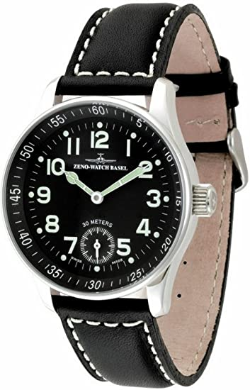 Zeno-Watch Reloj Mujer - X-Large Pilot Winder - P558-6-