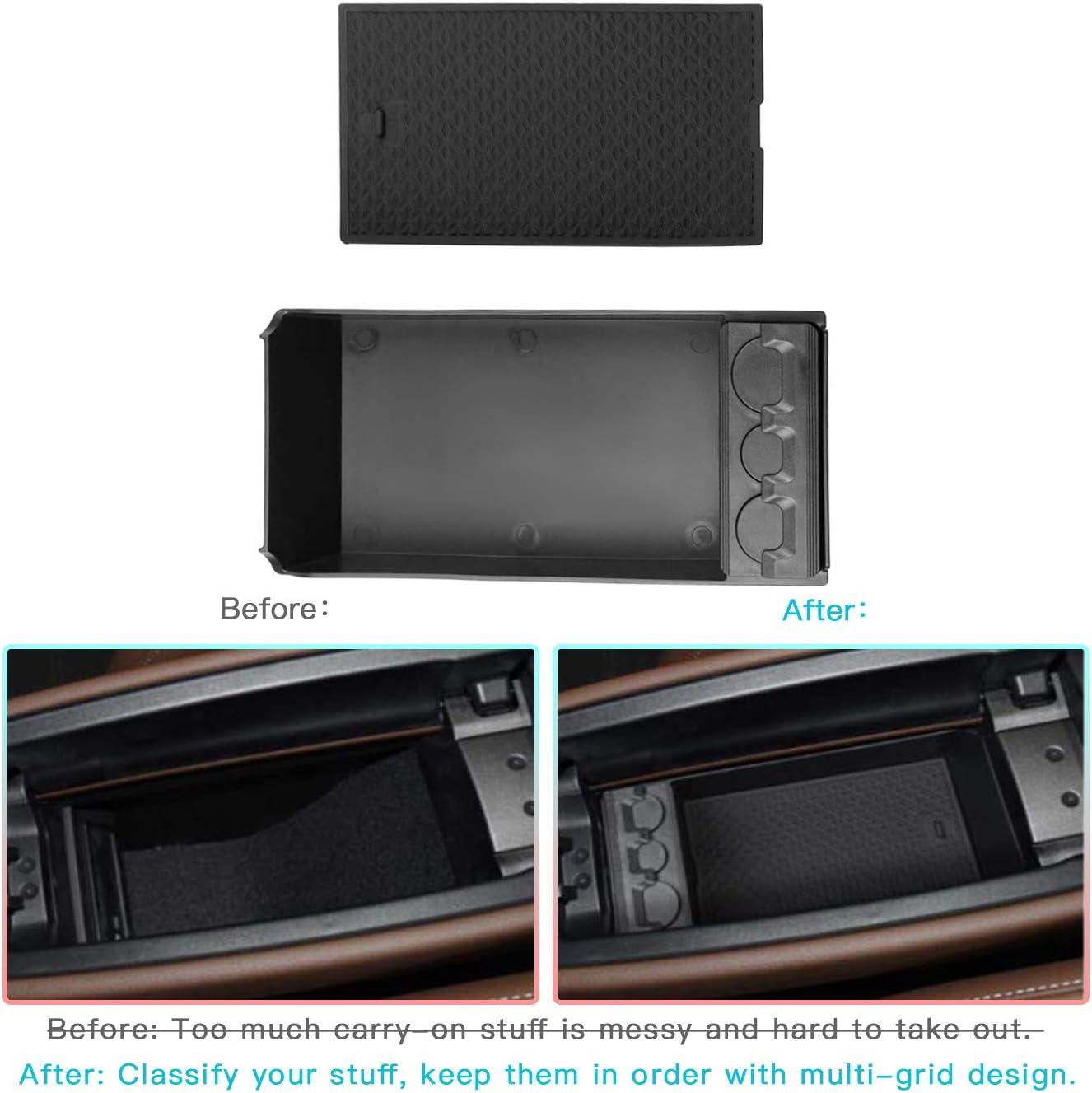 CDEFG pour Benz A Class W177 V177 Bo/îte de Rangement de Voiture Console Organizer Conteneur pour Palettes avec Porte-Monnaie pour Cartes /à Monnaie