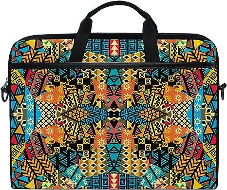 Ahomy 14 15 6 Zoll Laptoptasche Afrikanische Motive Ethnische Patchwork Mosaik Canvas Notebook Computer Tasche Tablet Schultertasche Tragetasche Koffer Rucksäcke Taschen