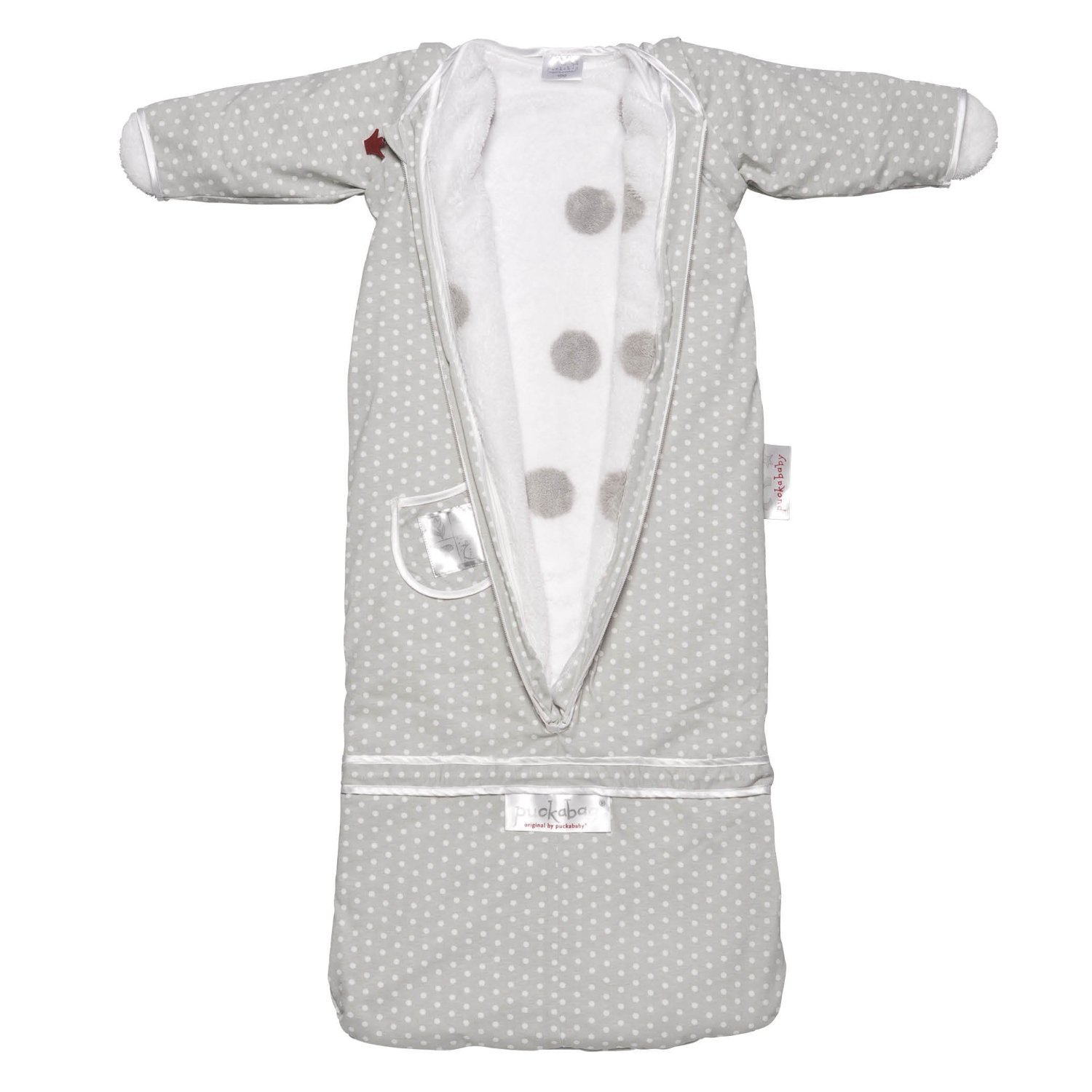 Puckababy The Bag 4 Seasons Baby and Toddler Sleeping Sack Gray Dot 7 M - 2.5 Yr