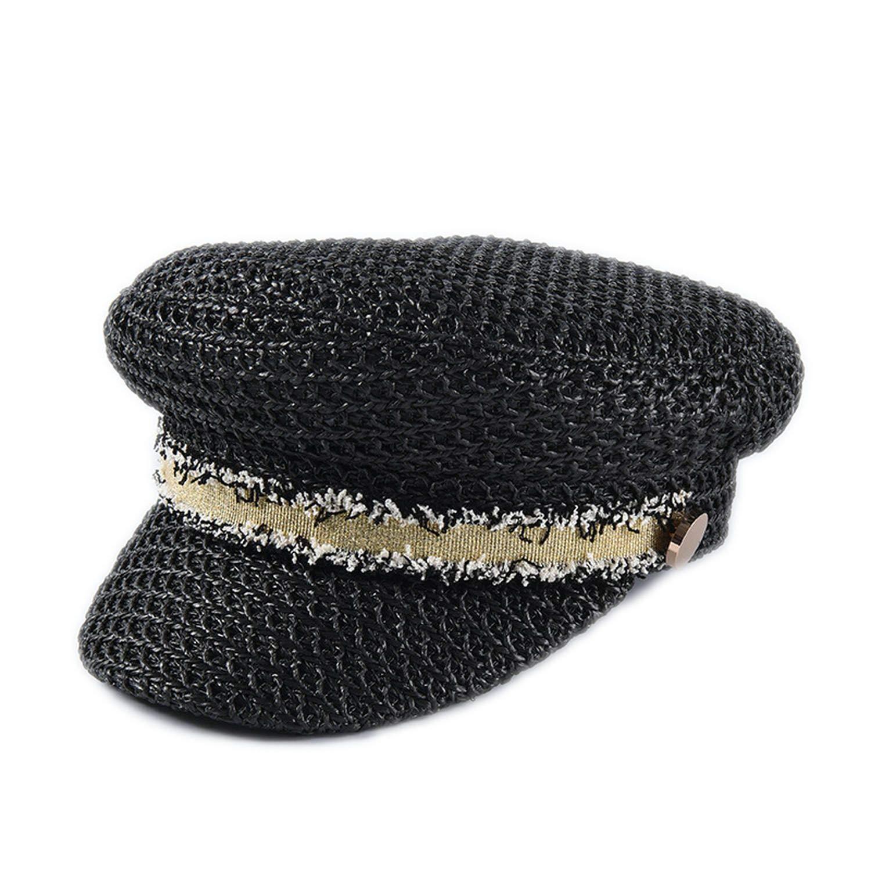 Women Summer Military Cap Fashion Womens Military Hats Solid Color Sun Visor Hat Beach Octagonal Caps