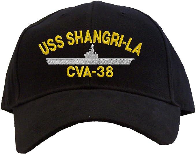 794489f8 USS Shangri La CVA-38 Embroidered Baseball Cap - Black