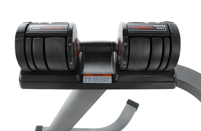 WEIDER WEIDER SPEED WEIGHT 100 - Mancuerna (ajustable, hierro fundido, de 20 a 24 kg) , color gris, negro, talla UK: 80 x 74 x 98 cm: Amazon.es: Deportes y ...