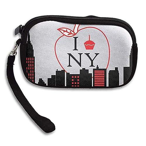 Amazon.com: LHQs I Love New York - Monedero con cremallera ...