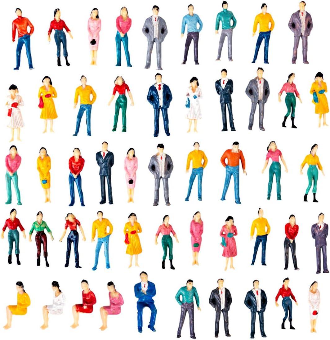 50 Stück Figuren Paare Kinder Familien Bemalt 1:50 NEU Modellbahn NEU