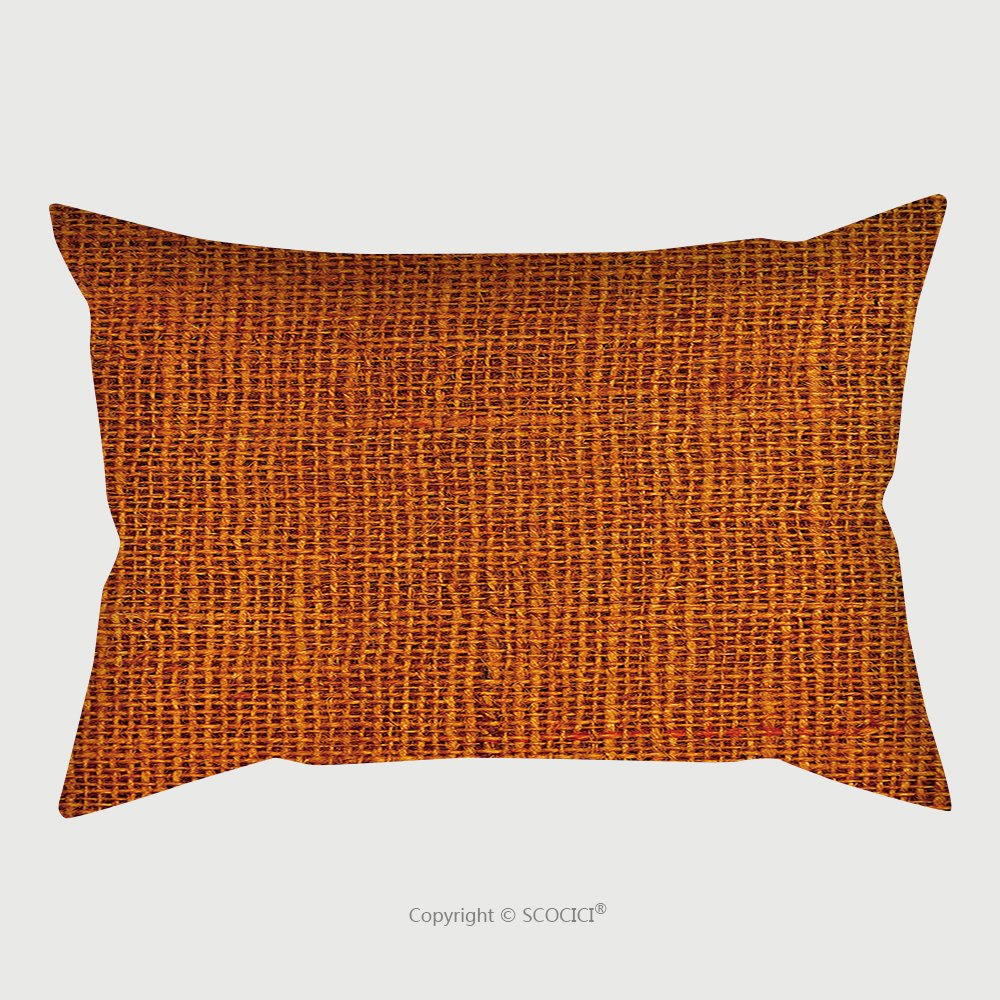 Custom Satin Pillowcase Protector Close Up Of A Blank Background Rust Colored Canvas Macro Detail Full Frame Vertical Canvas 275287928 Pillow Case Covers Decorative
