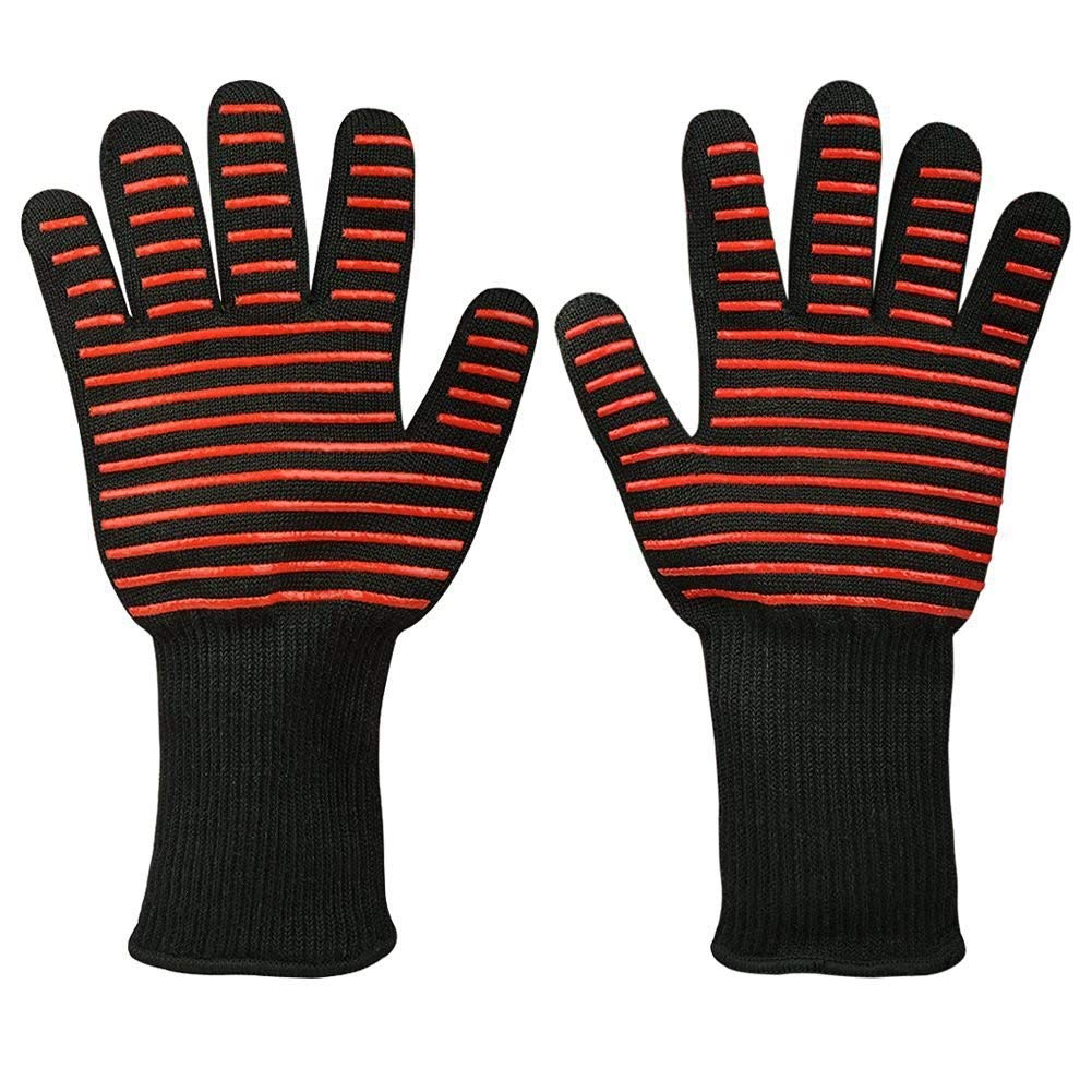 Grilling Baking Fireplace Stevz Heat Resistant Gloves 500/°C//932/°F Oven Cooking BBQ Silicon Insulated Gloves Sold As Pair
