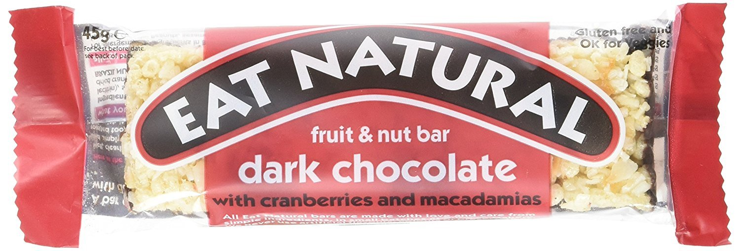Eat Natural Barrita de Chocolate Negro, Arándanos y Macadamia - 12 Barras: Amazon.es: Salud y cuidado personal