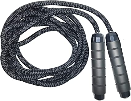 Boxing Pro Skipping Rope WIRE with Heavy Weighted Steel Handles Gym Fitness