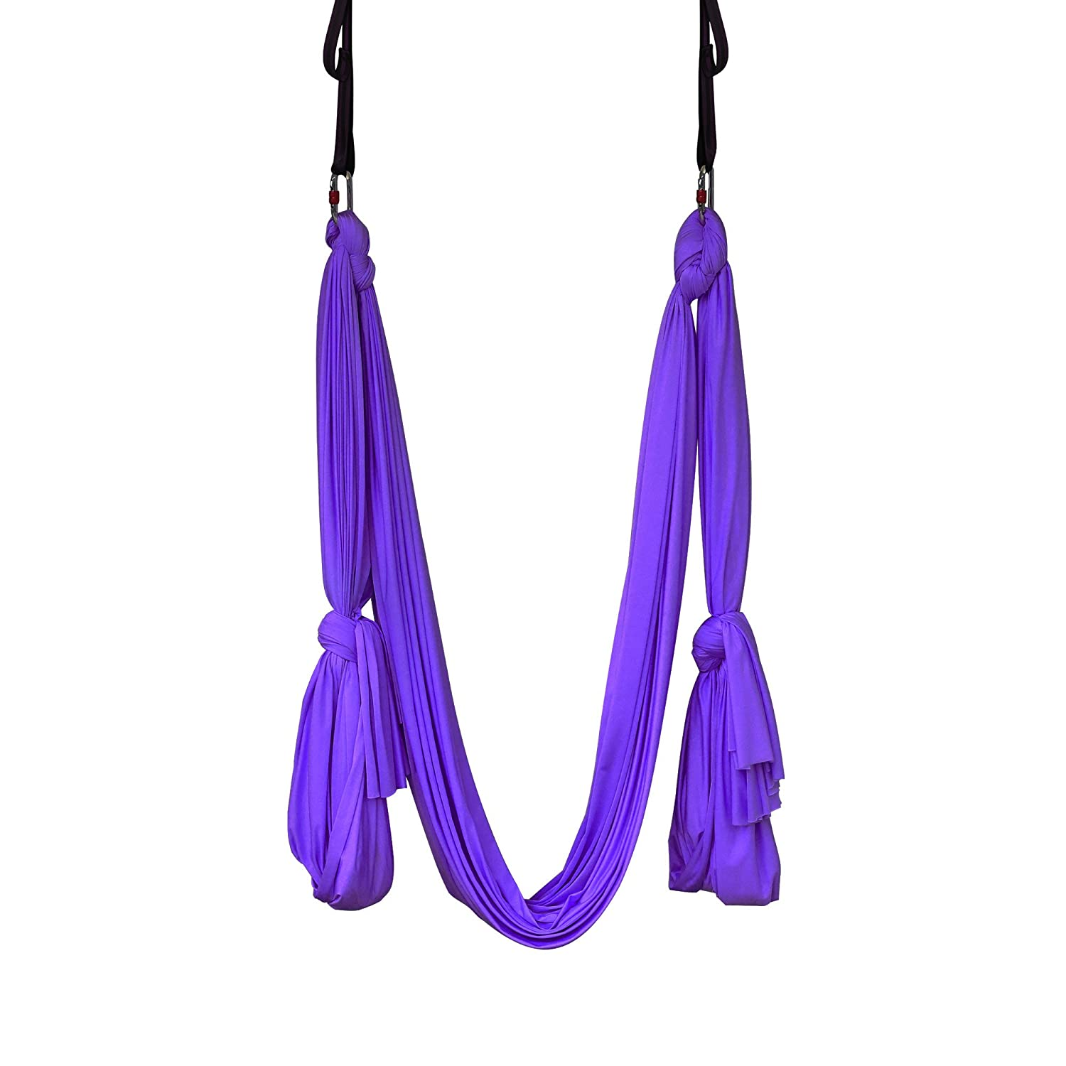 amazon     yoga hammock aerial kit extra long studio quality flying silk premium safe set includes hardware daisy chains and guide by kurma  purple      amazon     yoga hammock aerial kit extra long studio quality      rh   amazon
