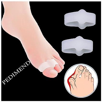 2 x pedimend silicona suave Gel Toe Separadores, para los dedos Hallux Valgus terapia,