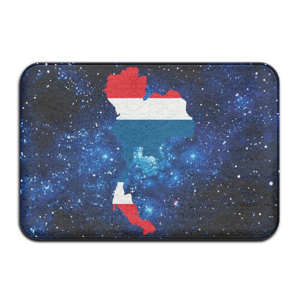 S6S/RUG Indoor/Outdoor Thailand Country With Thai Flag Non-slip Front Door Mat Bath Office 23.6''x 15.7'' Bathroom Doormat by S6S/RUG