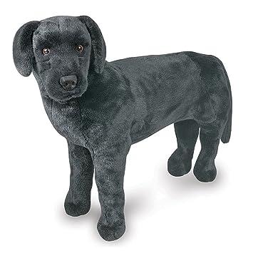Amazon Com Large Black Labrador Plush Toy Stuffed Animal Giant Soft