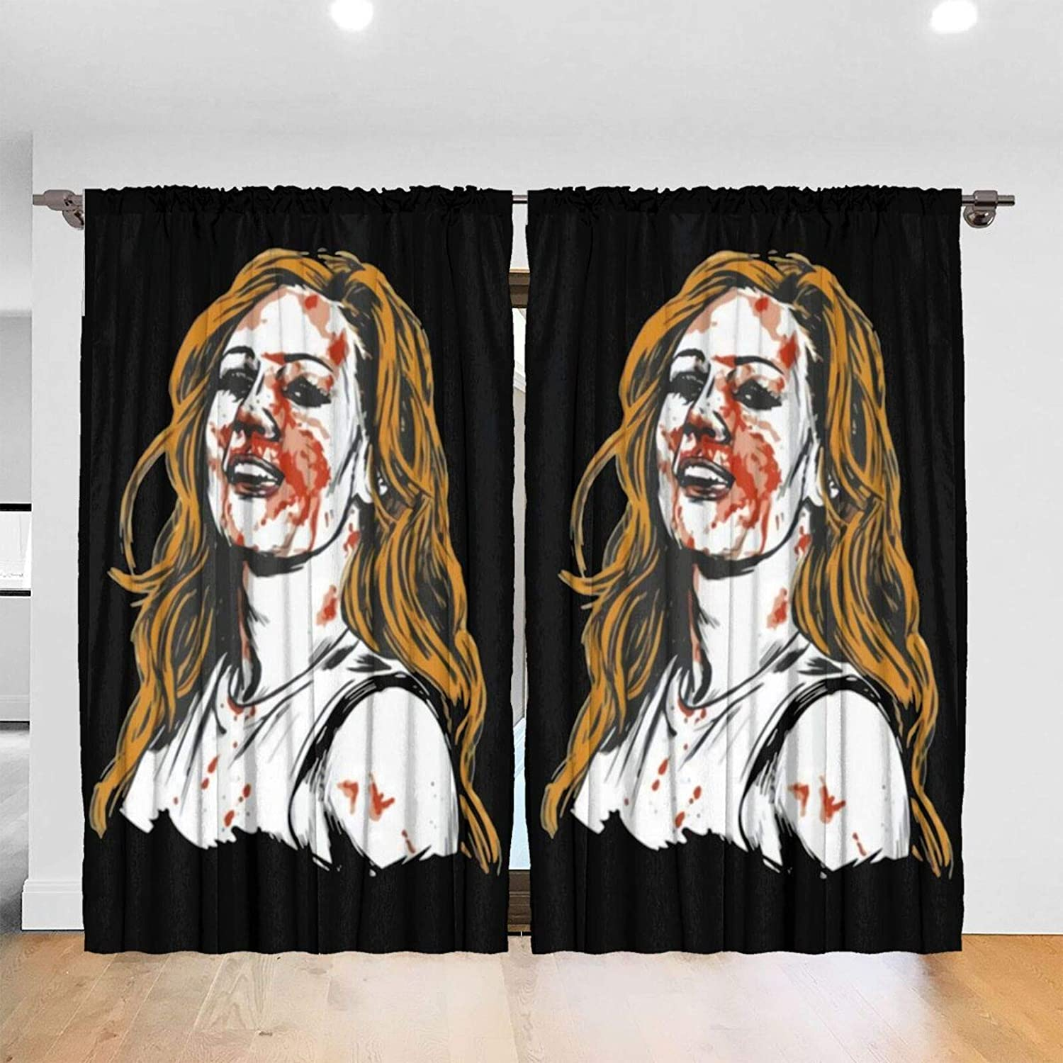 Hizhogqul Becky Lynch Blackout Window Curtains Thermal Insulated Room Darkening Drape for Bedroom Living Room 52 X 72 Inch