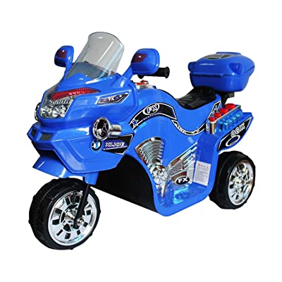 Ride on Toy, 3 Wheel Motorcycle for Kids, Battery Powered Ride On Toy by Lil' Rider – Ride on Toys for Boys and Girls, 2 - 5 Year Old - Blue FX: Toys & Games
