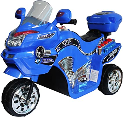 Boys Ride on Toy Electric Battery Powered 3 Wheel Motorcycle for Kids Rider Gift