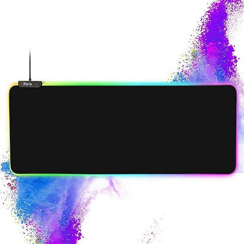 Colorful RGB Luminous Mousepad Laptop Gaming Pad Keyboard Mat For Desktop Y4L2