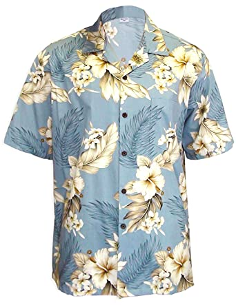 efee445b Paradise Hibiscus Island Cotton Hawaiian Shirt at Amazon Men's Clothing  store: Button Down Shirts