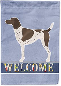 Caroline's Treasures BB8283GF German Shorthaired Pointer Welcome Flag Garden Size, Small, Multicolor